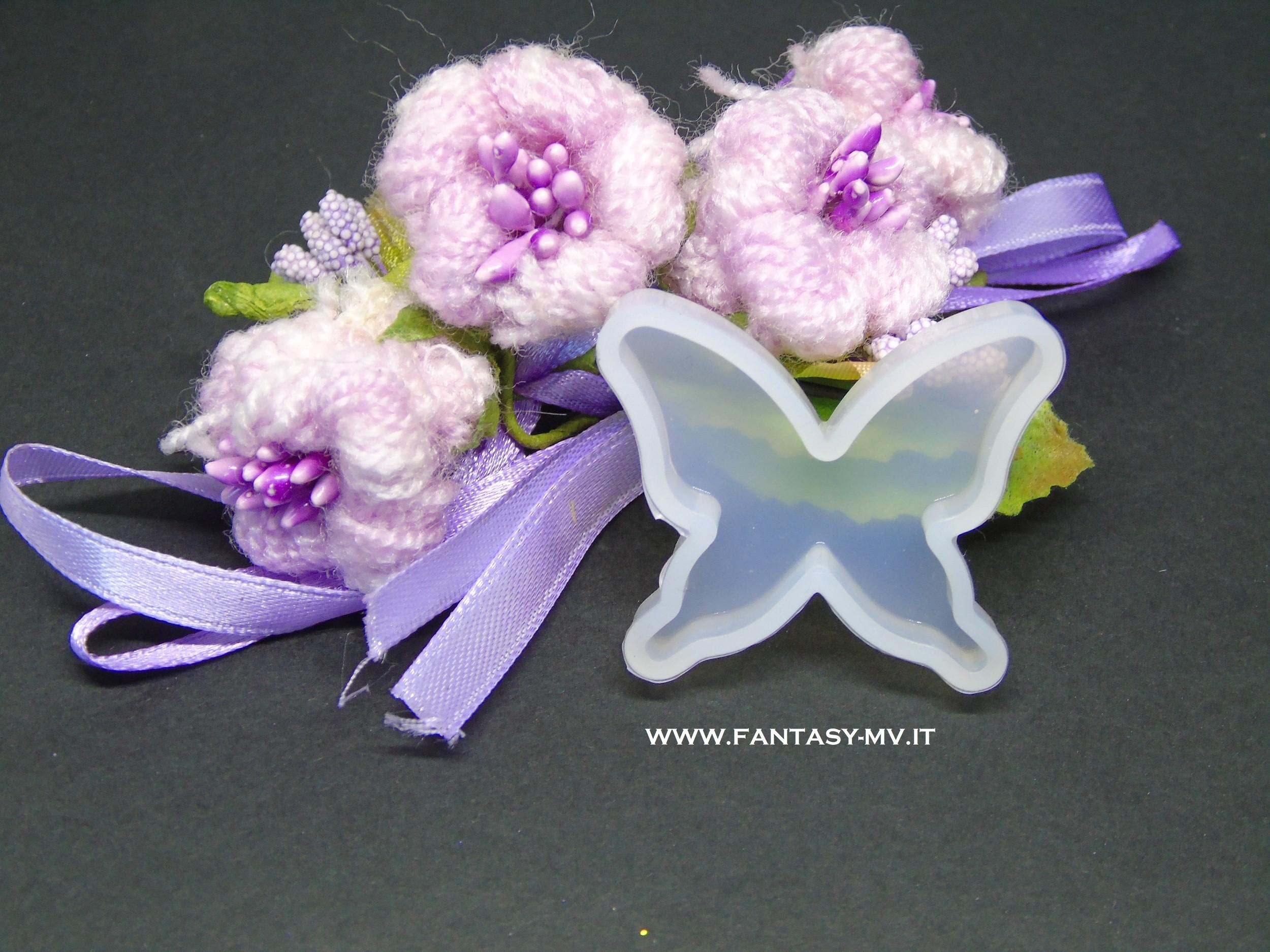 Stampo silicone Farfalla 38x33mm