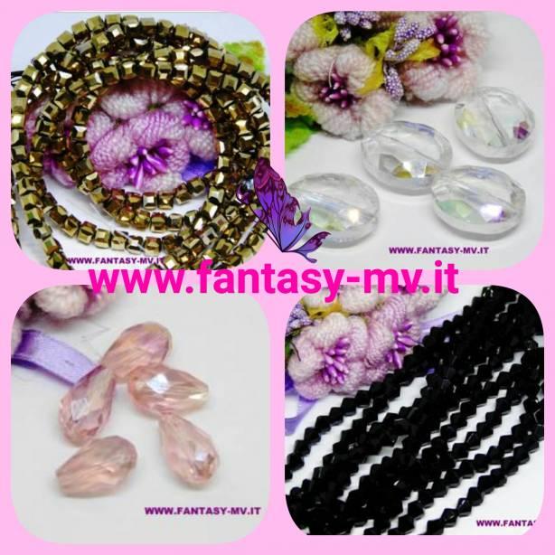 Perle e fili in vetro